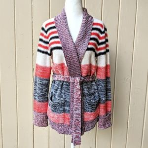 Vintage 1970s Space Dyed Sweater Jacket M